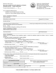 Welfare Exemption Supplemental Affidavit, Rehabilitation  (BOE-267-R)