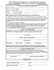 Agent Authorization Form