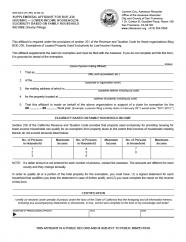 Supplemental Affidavit for BOE-236