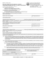 Welfare Exemption Supplemental Affidavit, Low-Income Housing Property of Limited Partnership