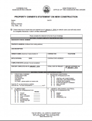 Property Owners Statement on New Construction