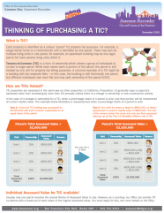 Fact Sheet - Thinking of Purchasing a TIC?
