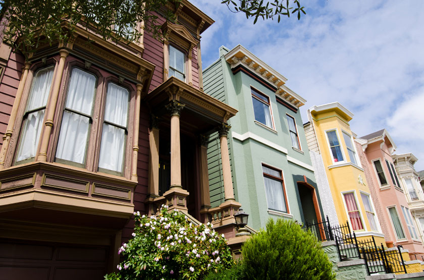 Row of San Francisco houses