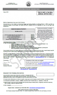 2016-2017 Notice of Assessed Value (Tagalog)