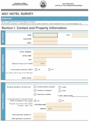 2021 Hotel Survey