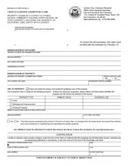 Church Lessors' Exemption Claim (BOE-263-C)